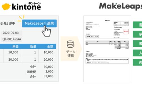 メイクリープス株式会社 クラウド型請求管理ソフト MakeLeaps「kintone連携」に新機能を追加〜「9種類の書類タイプ対応」「案件単位の書類タイプ選択」など書類作成がより柔軟に〜